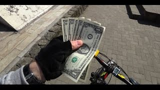Доллары. Кубанская набережная. Краснодар.