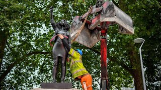 video: Black Lives Matter statue of Jen Reid removed from Colston plinth