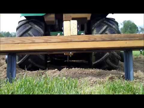 How to make a Redneck Garden Two Row Marker for planting. Pulled by John Deere Lawn Mower!