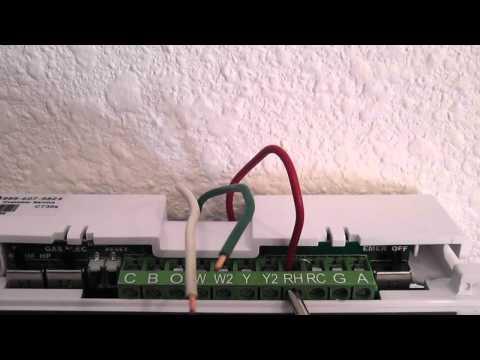furnace thermostat hookup