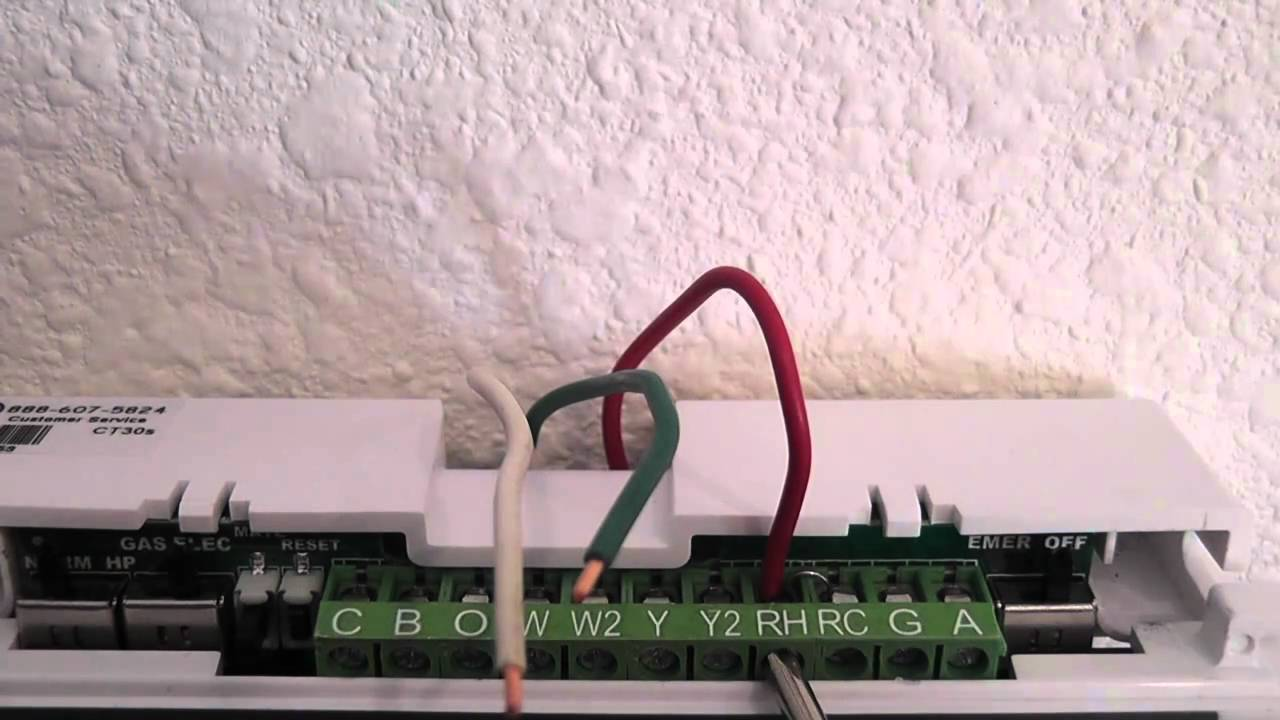 wiring the programmable thermostat youtube rite temp thermostat 6004 rite temp thermostat wiring [ 1280 x 720 Pixel ]