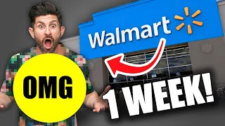 I Wore WALMART Clothes Every Day for a Week! (I WAS SHOCKED)