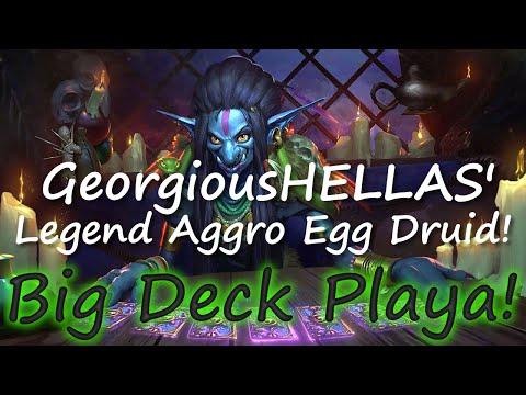 Big Deck Playa! Hearthstone - GeorgiousHELLAS Aggro Druid!