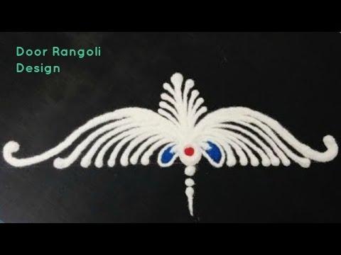 Door rangoli design youtube for Door rangoli design images