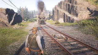 Red Dead Redemption 2 - Train vs Human