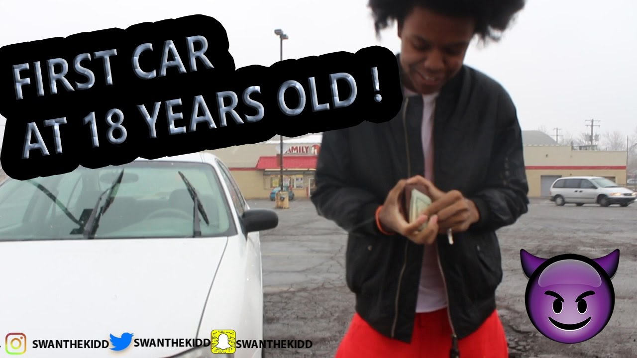 18 YEAR OLD BOY BUYS HIS FIRST CAR ! - YouTube