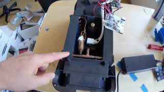 A look inside the Zero Breeze air conditioner with a tiny little compressor