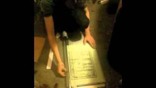 Печать линогравюрной открытки. 2 серия: паспарту(Оформление оттиска - изготовление