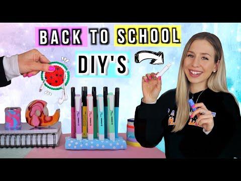 BACK TO SCHOOL DIY SCHOOL SUPPLIES ✏️Do It Yourself Für Back To School 2020 - Deutsch - Cali Kessy