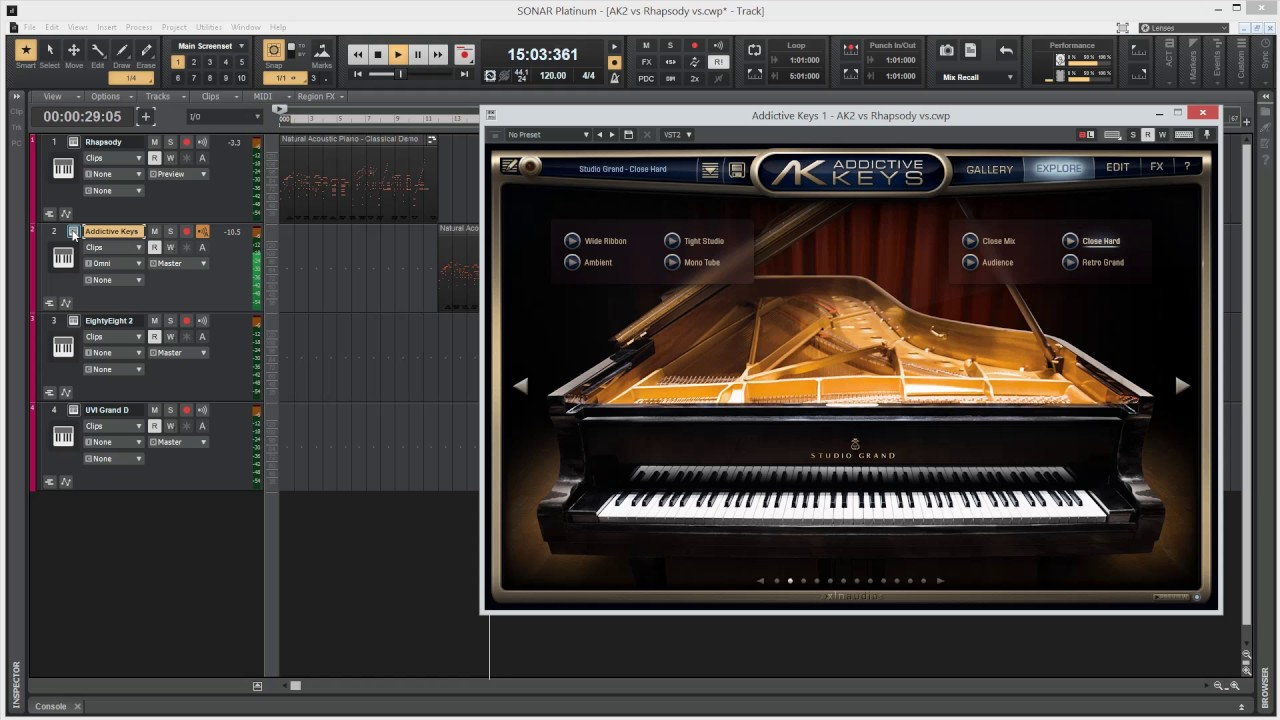 Cakewalk grand piano