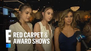 Stallone Sisters Dish On Their 2017 Golden Globes Fashion | E! Live From The Red Carpet