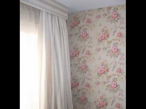Papel pintado con flores youtube - Papeles pared leroy merlin ...