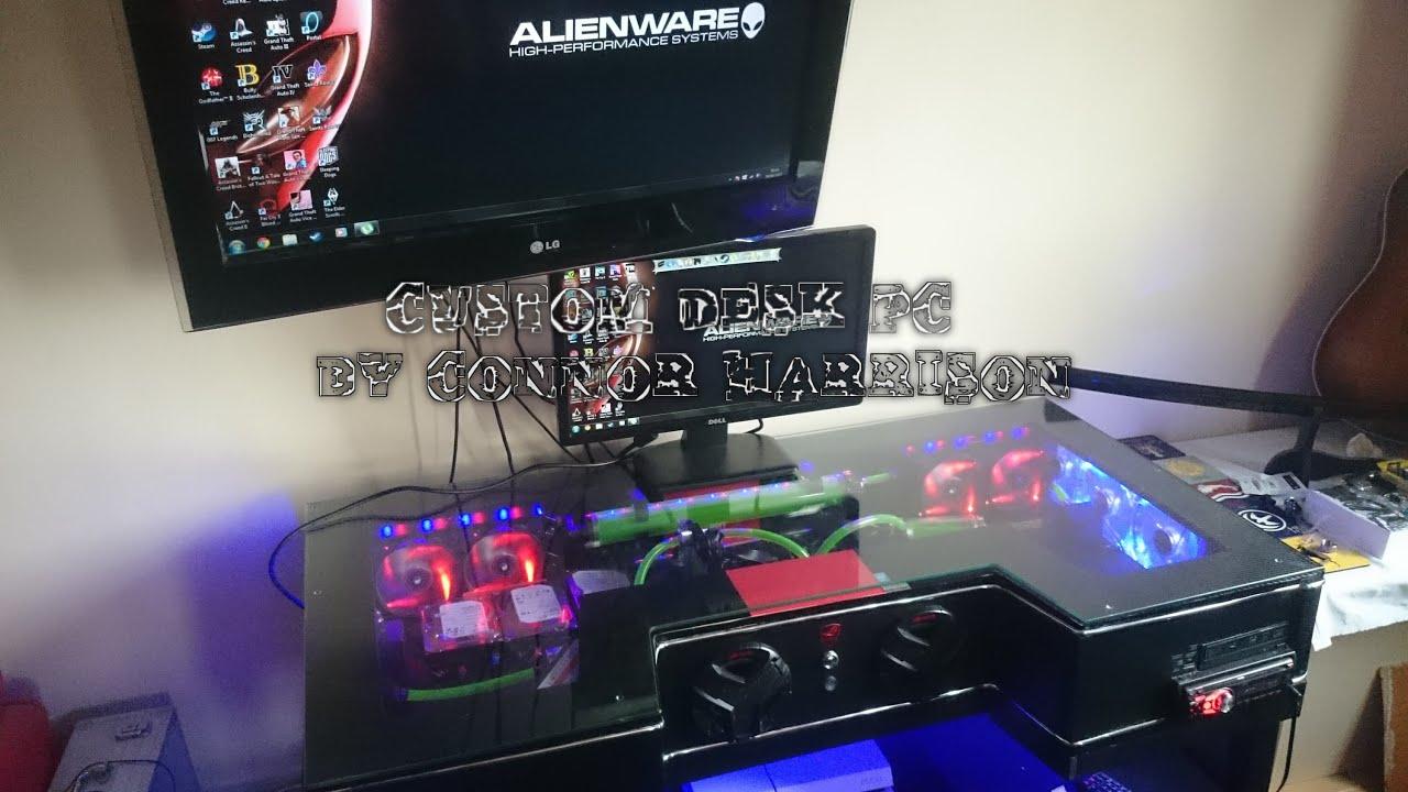 Custom PC Desk Mod- pc within a desk By Connor Harrison ...