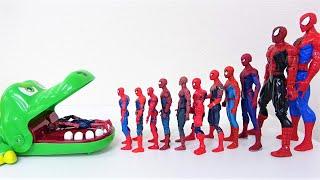 スパイダーマン、ハルク、アイアンマンがサノスを倒す! マーベルのスーパーヒーローがクロコダイルに飛び込みます!