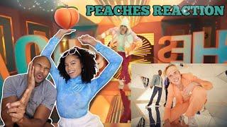 Justin Bieber - PEACHES ft. Daniel Caesar & Giveon (Music Video) | REACTION #LITT