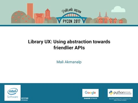 Image from Library UX: Using abstraction towards friendlier APIs
