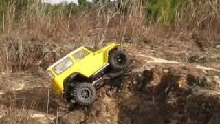 Repeat youtube video Tamiya CC-01 TLC, RC Scale Rock Crawler, tire test