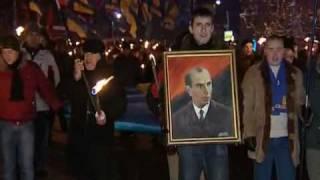 Stepan Bandera nas hrdina (1.1.2010 Kijiv, Ukrajina)