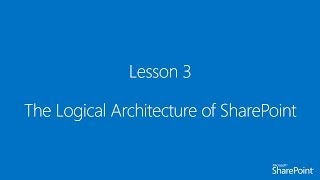 [Arabic] 3. The Logical Architecture of SharePoint 2013
