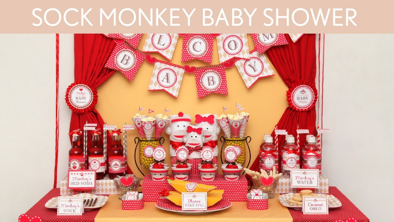 sock monkey baby shower ideas sock monkey s2 youtube