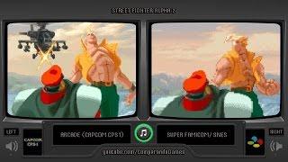 Street Fighter Alpha 2 (Arcade vs Snes) All Endings Comparison