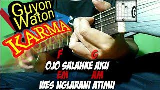 Karma - GuyonWaton | Lirik dan Chord | Guitar Cover by Van