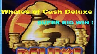 ★SUPER BIG WIN☆Whales of Cash Deluxe Slot machine (Aristocrat)★Live play & Deluxe Bonus $2.40 Bet☆彡