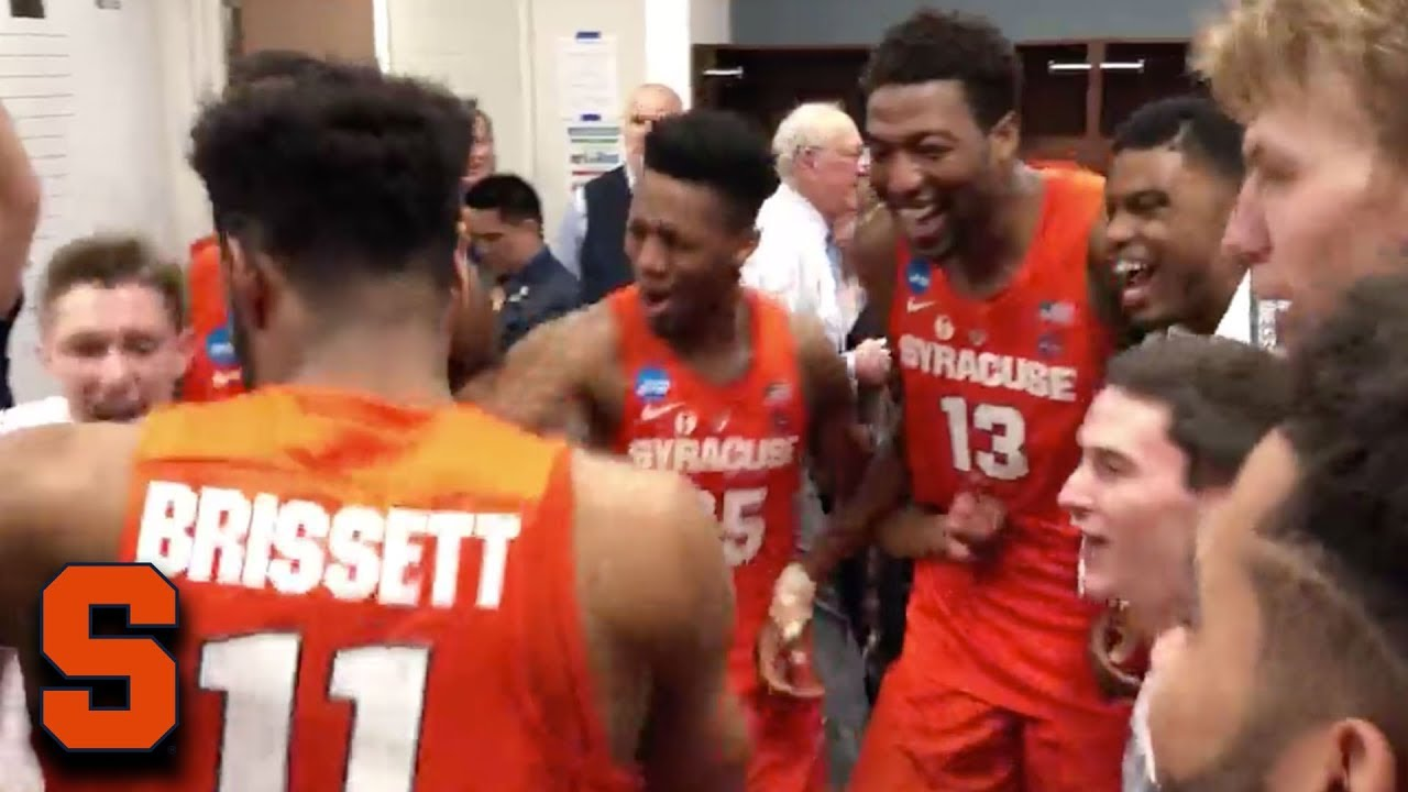Syracuse Goes Crazy In Locker Room After Advancing To Sweet 16 Youtube
