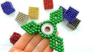 DIY Cómo hacer Spinner Magnético Fidget Colores y Jugar con Neocube Imanes de Neodimio Video