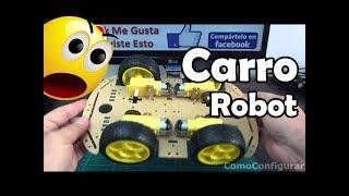 Carro Robot Arduino armado del kit Robot 4x4