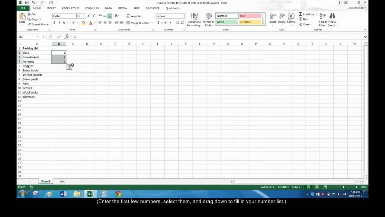 How to reverse or flip data in excel youtube how to reverse or flip data in excel ccuart Images