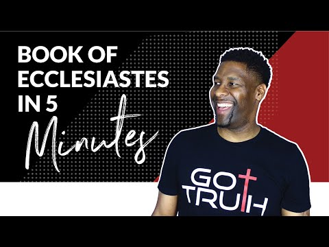 ECCLESIASTES EXPLAINED IN AROUND FIVE MINUTES   BOOK REVIEW