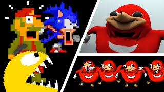 Uganda Knuckles vs Pacman vs Mario and Sonic