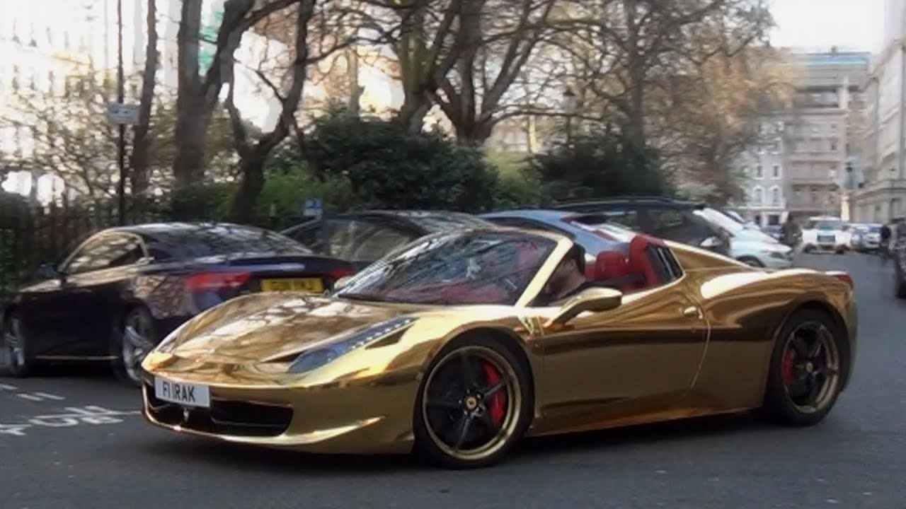 Chrome Gold Ferrari 458 Revs Combos In London Youtube