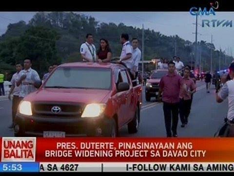 UB: Pres. Duterte, pinasinayaan ang bridge widening project sa Davao City