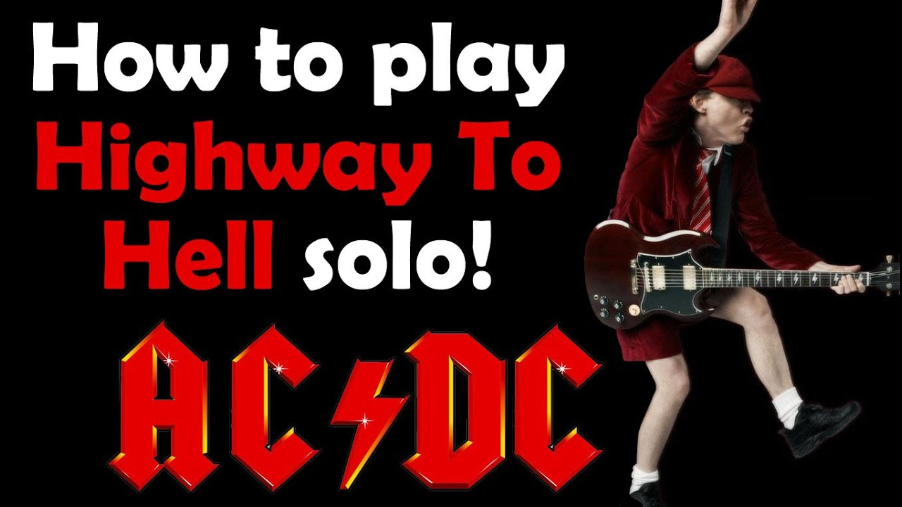 highway to hell solo guitar lesson youtube. Black Bedroom Furniture Sets. Home Design Ideas