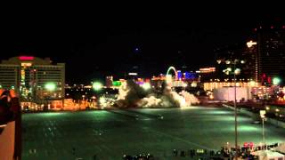Las Vegas Clarion Hotel implosion from the roof of Riviera parking garage (2/10/2015)