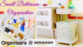 BATHROOM ORGANIZERS from AMAZON | 16 Ideas to Organise a small Bathroom