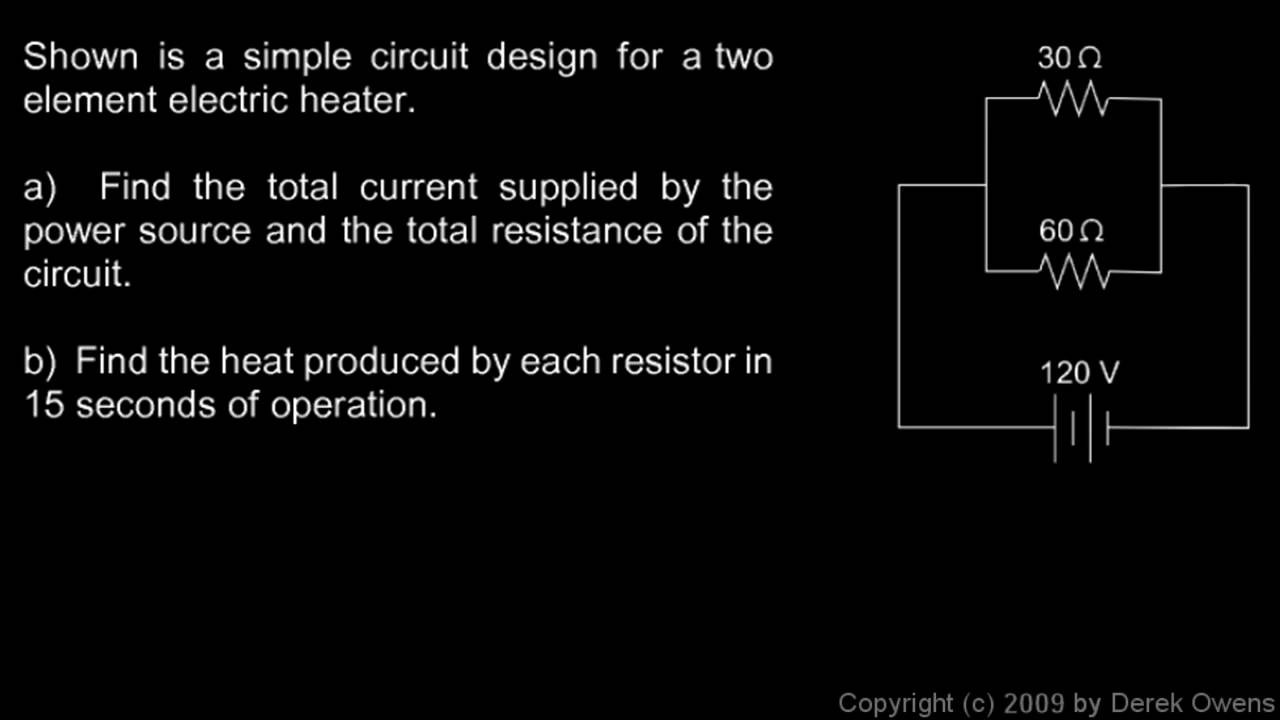 Physics 1342g Parallel Circuit Example Youtube Real Life Of A