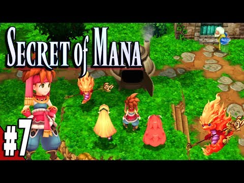Secret of Mana Remake PS4 Part 7 Santa & Fire Palace Gameplay Walkthrough