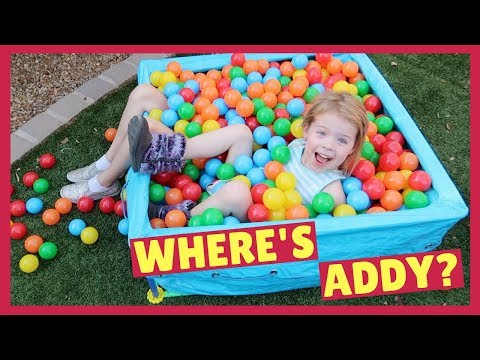 Getting Silly in the Backyard Ball Pit