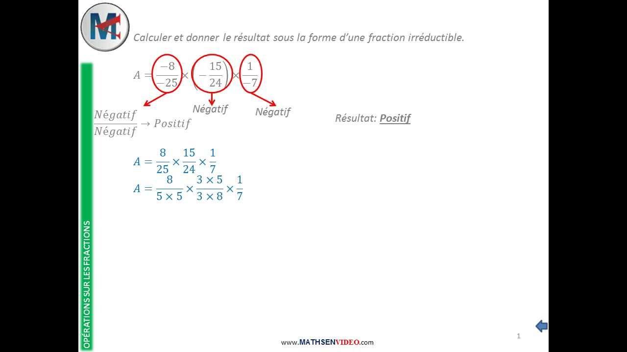 Exercice multiplication de trois fractions avec signe for Exercice de multiplication