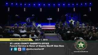 Funeral Service for Deputy Sheriff Alan Ross