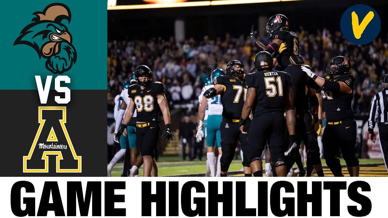 #14 Coastal Carolina vs Appalachian State   College Football Highlights