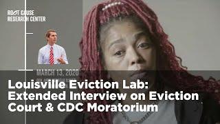 Louisville Eviction Court & CDC Moratorium   Louisville Eviction Lab