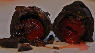 Making Dark Chocolate Covered Maraschino Cherries