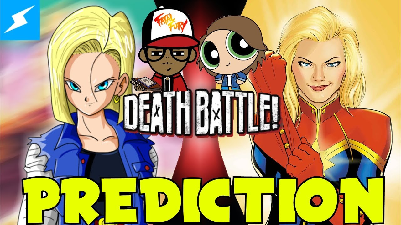 android 18 vs captain marvel!!! | death battle prediction - youtube