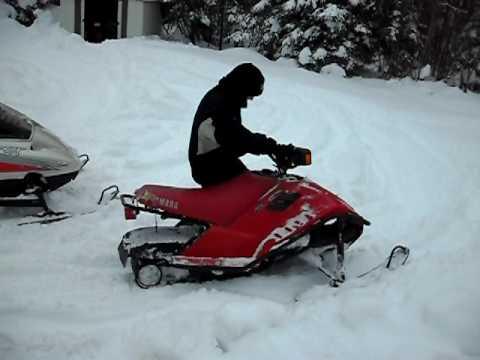 Motoneige yamaha snow scoot 80cc youtube for Yamaha sno scoot