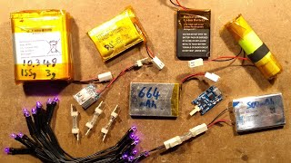 Using salvaged lithium cells to power LEDs directly.  (with protection test)