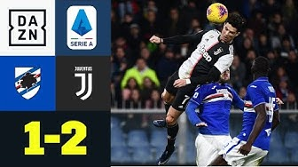 Ronaldos Powerkopfball & Dybala-Geniestreich sichern Sieg: Sampdoria - Juventus 1:2 | Serie A | DAZN